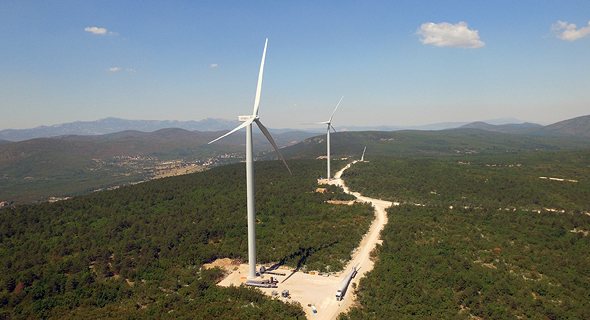 Enlight's wind turbine ventre in Croatia. Photo: Enlight