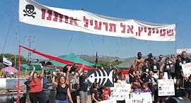 הפגנה נגד האסדה (ארכיון), צילום: שירות כלכליסט