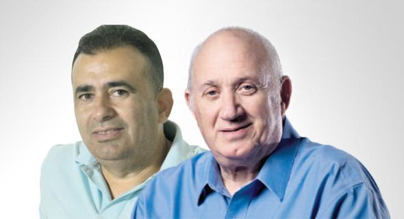 "מימין: מנכ""ל שופרסל איציק אברכהן ומבעלי סמארט פארם איציק ניסנוב"