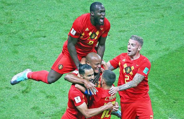 שחקני נבחרת בלגיה, צילום: אם סי טי