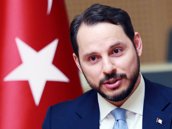 חתנו של ארדואן, שר האוצר הטורקי ביראט אלבייראק, צילום: איי אף פי