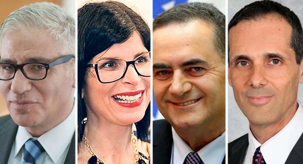 מימין צחי כהן, ישראל כץ, כרמית דותן ואמיר חייק
