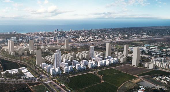 הדמיית תוכנית הבנייה במערב רמת השרון