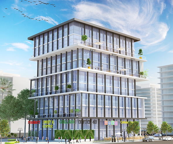 בניין משרדים בחולון Peri Networking (הדמיה)