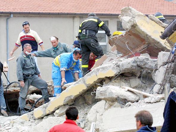 רעידת אדמה ב איטליה, צילום: איי פי