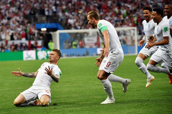 האנגלים הבקיעו ראשונים, אבל זה לא הספיק, צילום: איי אף פי