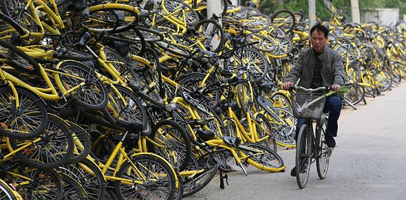 אופני Ofo, צילום: theconversation