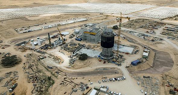 תחנת הכוח אשלים המוקמת בימים אלה