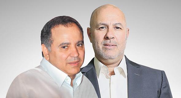 """מימין גדי נצר מנכ""""ל גלוברנדס ו קובי מימון בעל השליטה ב אקויטל, צילום: אוראל כהן"""