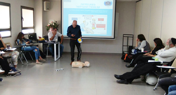 הדרכת החייאה של קבוצת ש.א.ג שירותי רפואה