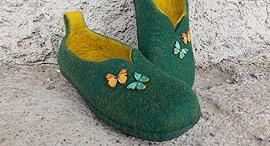 נעלי צמר ב Etsy