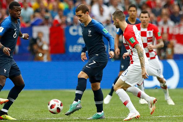 נבחרת קרואטיה נגד צרפת בגמר גביע העולם האחרון, צילום: איי פי