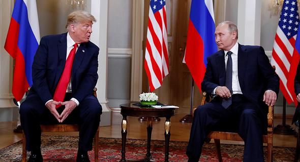 ולדימיר פוטין דונלד טראמפ הלסינקי 16.7.18, צילום: רויטרס