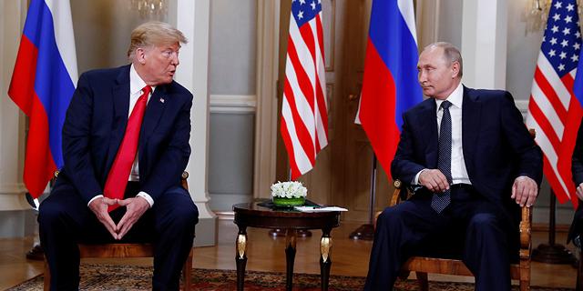 ולדימיר פוטין ודונלד טראמפ בפגישה בהלסינקי , צילום: רויטרס