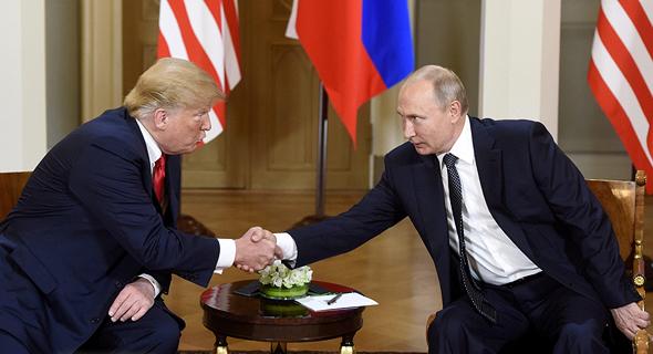 ולדימיר פוטין ודונלד טראמפ, פסגת הלסינקי יולי 2018, צילום: רויטרס