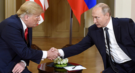 ולדימיר פוטין דונלד טראמפ פסגת הלסינקי יולי 2018, צילום: רויטרס