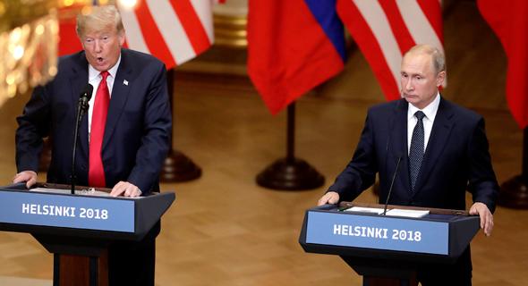ולדימיר פוטין דונלד טראמפ מסיבת עיתונאים הלסינקי , צילום: Markus Schreiber