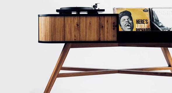 שולחן לאחסון תקליטים