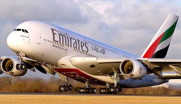 חברת תעופה אמירייטס דובאי Emirates איירבוס A380, צילום: emirates