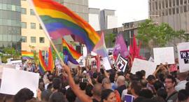 """מחאת קהילת הלהט""""ב נגד חוק הפונדקאות, צילום: מוטי קמחי"""