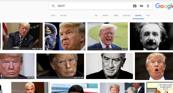 גוגל דונלד טראמפ ה טרלה טרול טרולים, צילום: מסך מחיפוש תמונות בגוגל