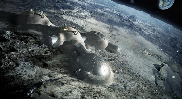 עיצוב קונספט של בסיס ירחי