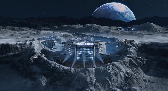 עיצוב קונספט של מלון על הירח