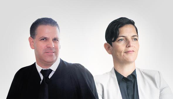 """הכנ""""רית סיגל יעקבי וסגנה אורי ולרשטיין. לא ברור מי במשרד הכנ""""ר דואג לקריירה של אנגלמן, צילום: יריב כץ"""