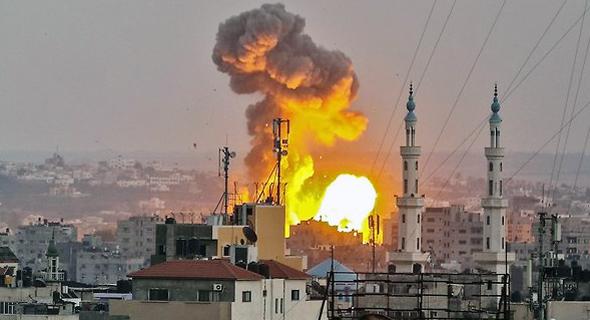 Israeli air strike on Gaza on Friday. Photo: AFP