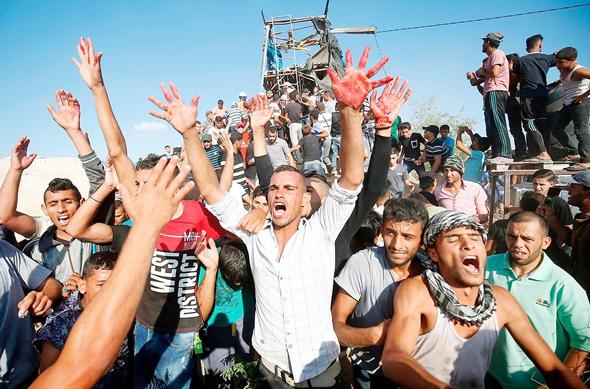 ההמונים בעזה רעבים, צילום: אי אף פי