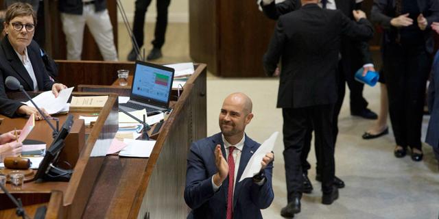 """ח""""כ אמיר אוחנה ביום ההצבעה על חוק הלאום, צילום: עמית שאבי"""
