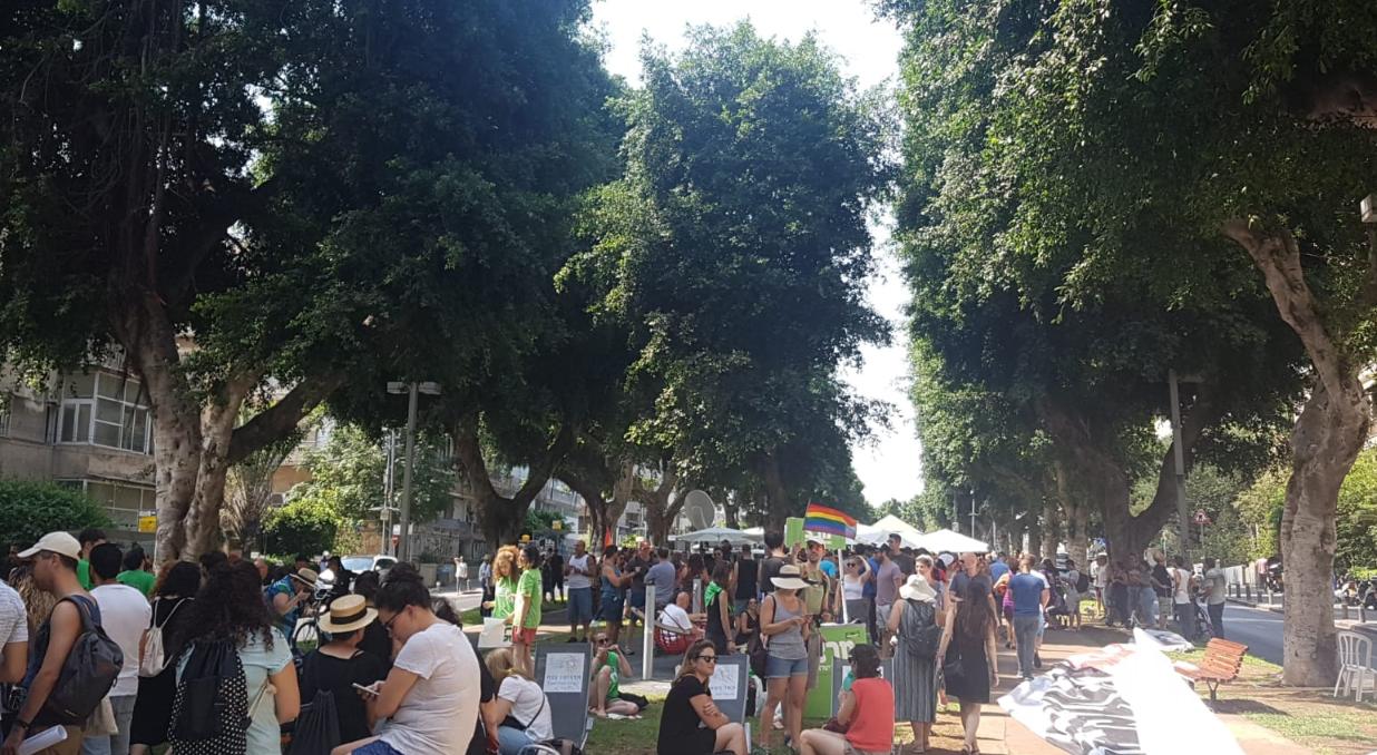 """ההפגנה בשדרות רוטשילד בת""""א"""