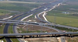 צומת קאסם צומת קסם מחלף כביש 6 כבישים מתחם לב ישראל, צילום: אורן אגמון