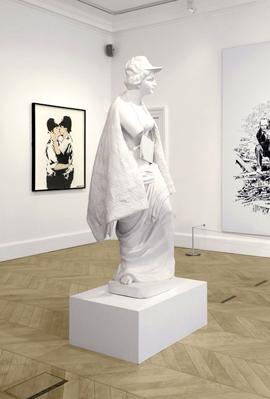 """פנאי ציור בנקסי מוכרת עבור שיא 1.5 מיליון ליש""""ט, צילום: Lazinc"""