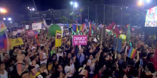 """80 אלף איש השתתפו בהפגנת השוויון למען הקהילה הגאה: """"ניאבק עד שנראה חקיקה"""""""