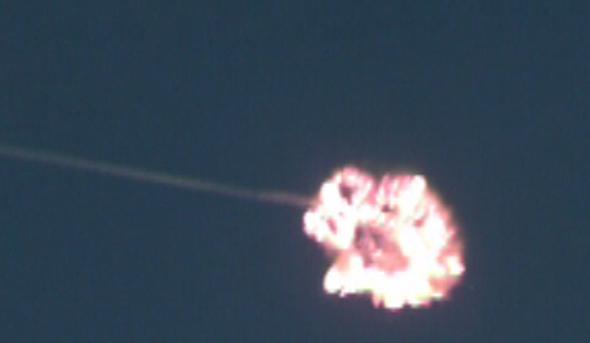 יירוט אווירי מוצלח של טיל קלע דוד