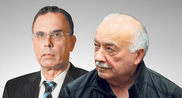 """מימין איש העסקים אליעזר פישמן ו עו""""ד יוסי בנקל, צילום: עמית שעל, גלעד קוולרציק"""
