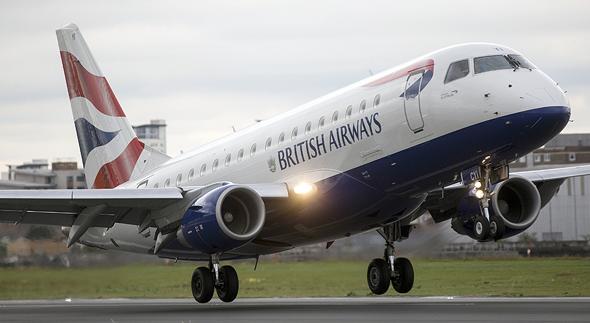 מטוס של בריטיש איירווייז. לפי הודעת החברה הסיבה להשעיית הטיסות לאיראן היא מטעמים כלכליים