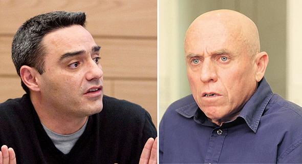 """מימין: מנכ""""ל ערוץ עשר יוסי ורשבסקי ומנכ""""ל רשת אבי צבי"""