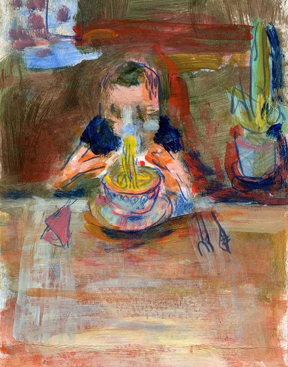 הציור One hungry sucker של איזבלה וולובניק