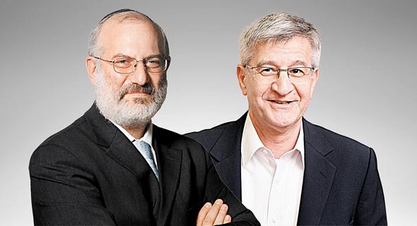 """משמאל אדוארדו אלשטיין ו יו""""ר שופרסל ישראל ברמן, צילום: אוראל כהן, עמית שעל"""