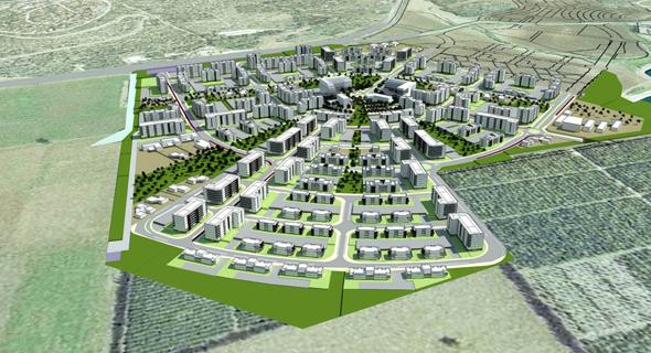 הדמיית השכונה החדשה שתיבנה במגדל העמק
