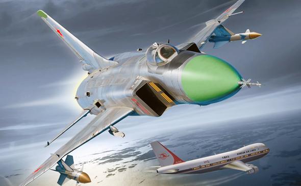 איור של יירוט טיסה 007