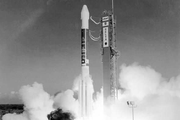 שיגור של לוויין ניווט אמריקאי לחלל