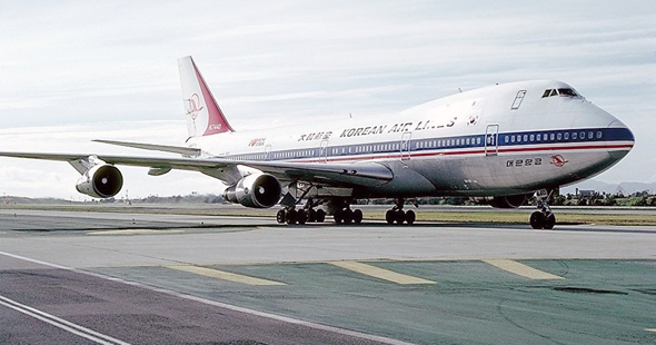 מטוס הג'מבו של חברת קוריאן איירליינס
