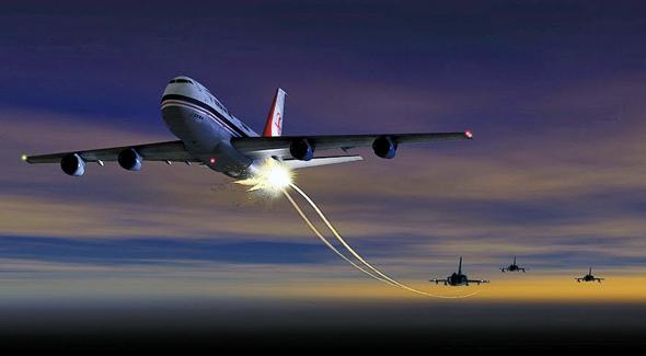 איור הירי על מטוס הג