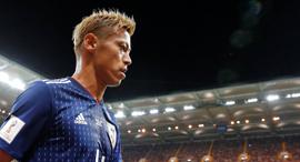 קייסוקה הונדה שחקן נבחרת יפן ב כדורגל, צילום: רויטרס