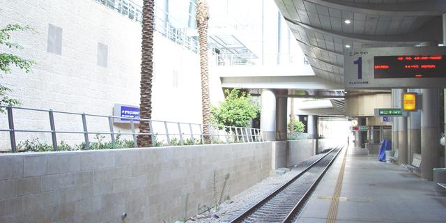 """תחנת ה רכבת ישראל נתב""""ג, צילום: ויקיפדיה"""
