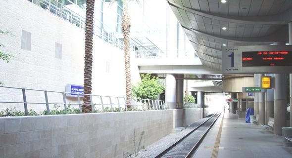 """תחנת רכבת ישראל בנתב""""ג, צילום: ויקיפדיה"""