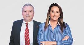 """בעלת השליטה בבנק הפועלים שרי אריסון ומנכ""""ל הבנק אריק פינטו, צילום: אוראל כהן"""